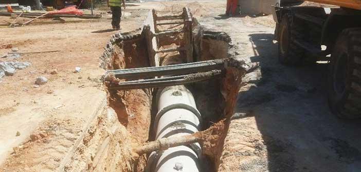 Ολοκληρώνεται το έργο κατασκευής αγωγών απορροής ομβρίων στο κέντρο Χαλανδρίου