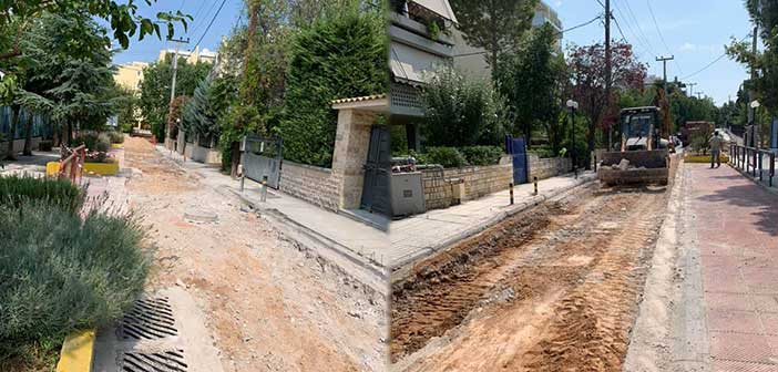 Ξεκίνησε το έργο επισκευής οδοστρωμάτων – πεζοδρομίων στον Δήμο Λυκόβρυσης – Πεύκης