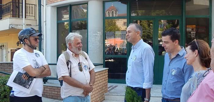Ο δήμαρχος Μεταμόρφωσης υποδέχθηκε τους ποδηλάτες του Βορείου Τομέα Αττικής