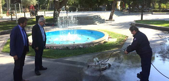 Δοκιμές μηχανημάτων καθαρισμού και επισκευών στον Δήμο Αμαρουσίου