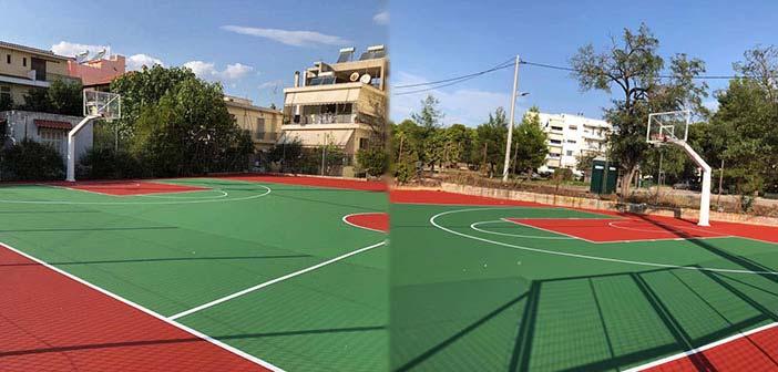 Ανακατασκευάστηκε το ανοικτό γήπεδο μπάσκετ στη Βορείου Ηπείρου στη Λυκόβρυση
