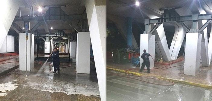 Τους κοινόχρηστους χώρους του σταθμού ΗΣΑΠ «Μαρούσι» καθάρισαν συνεργεία του Δήμου Αμαρουσίου