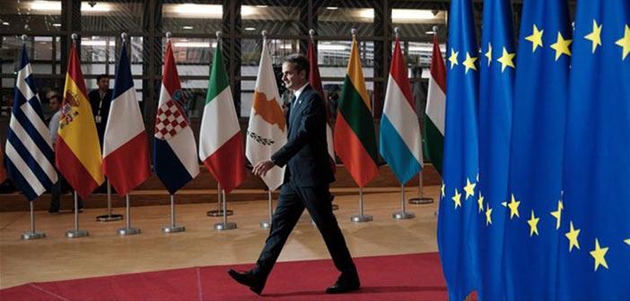 Ικανοποίηση για την πρώτη παρουσία του Μητσοτάκη σε ευρωπαϊκή Σύνοδο Κορυφής