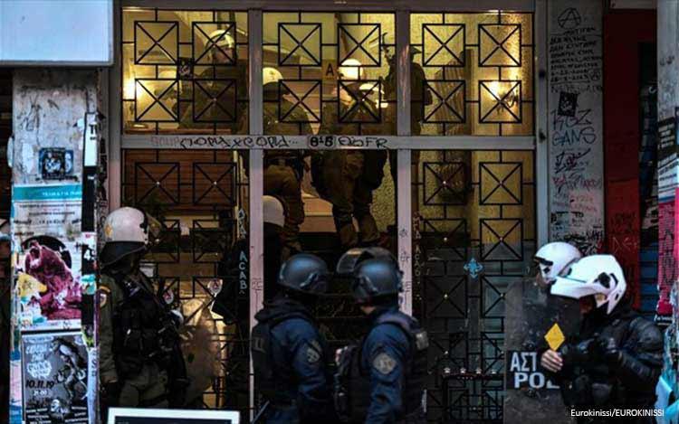 Αστυνομική επιχείρηση σε κτήριο επί της Στουρνάρη