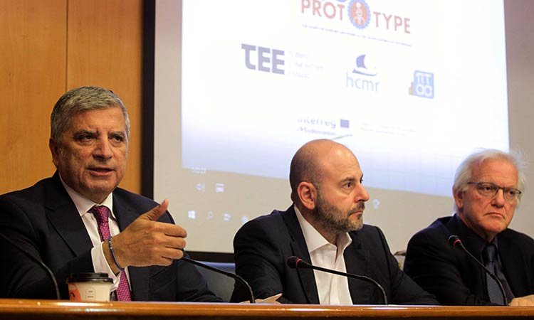 Ο Γ. Πατούλης στην παρουσίαση της πρωτοβουλίας «Blue Prototype» για τη θαλάσσια οικονομία
