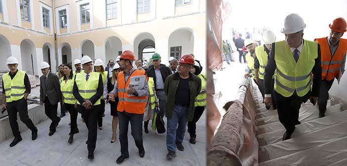Αυτοψία περιφερειάρχη Αττικής στις εργασίες αποκατάστασης και εκσυγχρονισμού στο Χατζηκυριάκειο Ίδρυμα Πειραιά