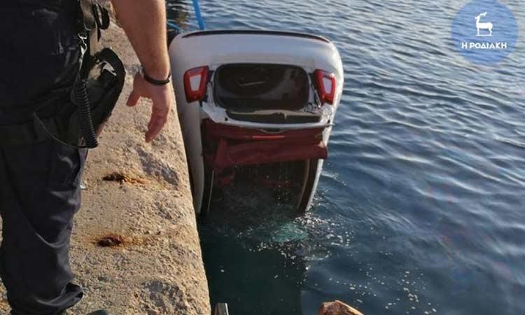 Τραγωδία στη Ρόδο: Αυτοκίνητο έπεσε στη θάλασσα – Νεκρός ο οδηγός