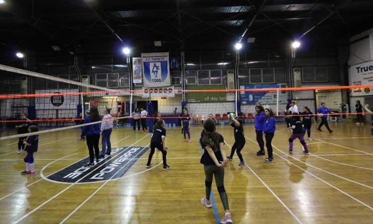 Πάνω από 80 παιδιά συμμετείχαν στο 1ο Xmas mini volley του Α.Σ. Παπάγου