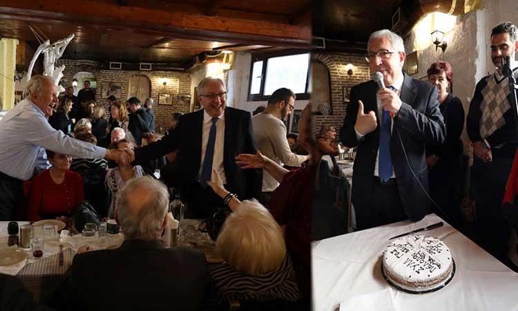 Στην κοπή πρωτοχρονιάτικης πίτας της Ένωσης Πελοποννησίων Αμαρουσίου ο δήμαρχος Θ. Αμπατζόγλου