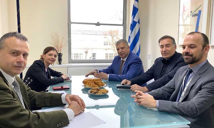 Επίσκεψη του περιφερειάρχη Αττικής στην Ελληνική Πρεσβεία στο Λονδίνο