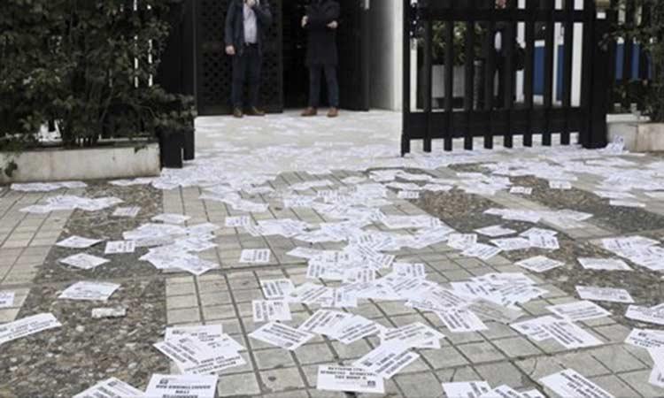Παρέμβαση του «Ρουβίκωνα» στην οικία του πρέσβη της Αυστραλίας, στο Ψυχικό