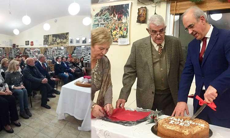 Ο δήμαρχος Κηφισιάς στην κοπή πρωτοχρονιάτικης πίτας της Ένωσης Μικρασιατών Νέας Ερυθραίας