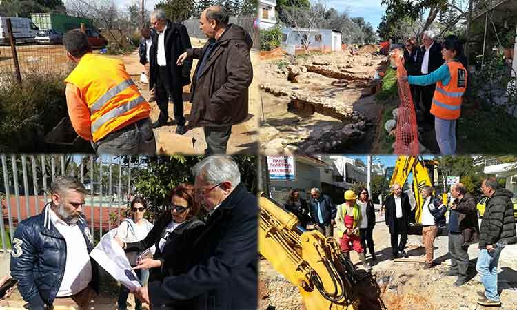 Νέες αυτοψίες του δημάρχου Αμαρουσίου σε έργα που εκτελούνται στην πόλη