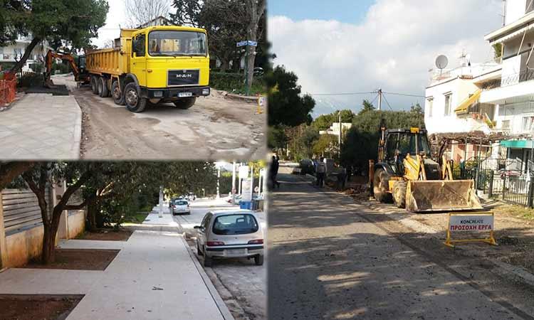Συντήρηση – ανακατασκευή πεζοδρομίων στη Ν. Ερυθραία