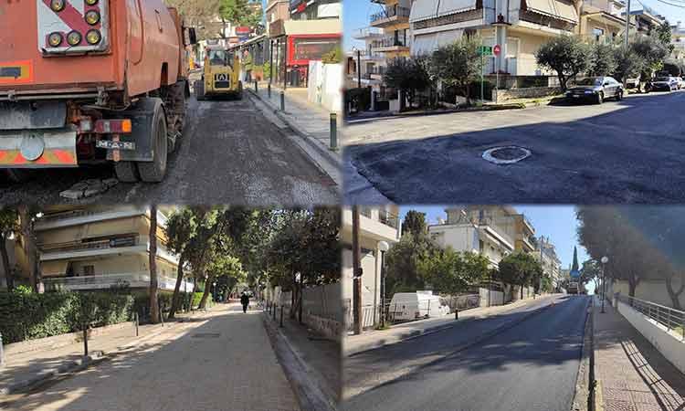 Νέος κύκλος ασφαλτοστρώσεων δρόμων στο Ηράκλειο Αττικής
