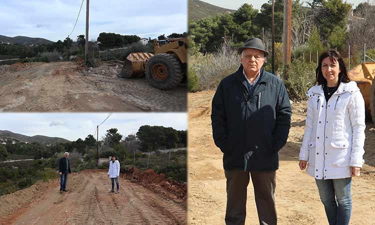 Τις διανοίξεις δρόμων στην Καλλιθέα Πεντέλης επέβλεψε η δήμαρχος Δ. Κεχαγιά