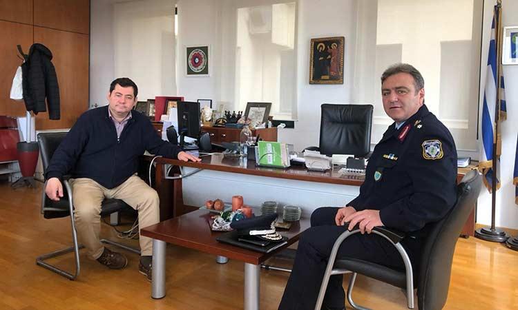 Τον νέο διευθυντή  της ΕΛ.ΑΣ. για τη Βορειοανατολική Αττική συνάντησε ο δήμαρχος Τ. Μαυρίδης