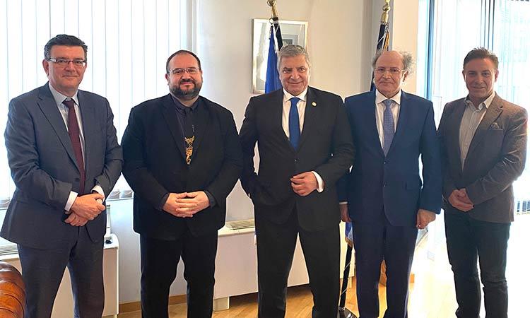 Συνάντηση Γ. Πατούλη με τον Έλληνα πρέσβη στο Βέλγιο