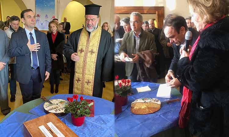 Μια… διαφορετική πρωτοχρονιάτικη πίτα έκοψε ο συνδυασμός του Ν. Χιωτάκη