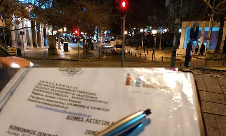 Η Κοινωνική Υπηρεσία του Δήμου Κηφισιάς… βγήκε για «street work»
