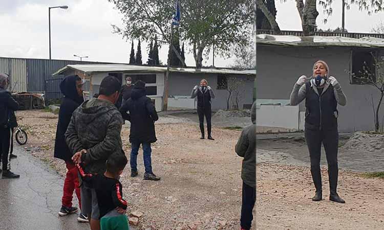 Ενημέρωση των Ρομά στο Χαλάνδρι για τα έκτακτα μέτρα προστασίας από τον κορωνοϊό