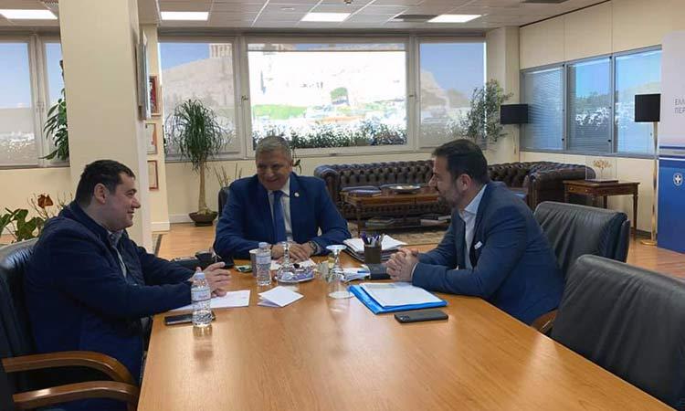 Έργα ύψους περίπου 13 εκατ. ευρώ στον Δήμο Λυκόβρυσης – Πεύκης συζήτησαν Γ. Πατούλης και Τ. Μαυρίδης