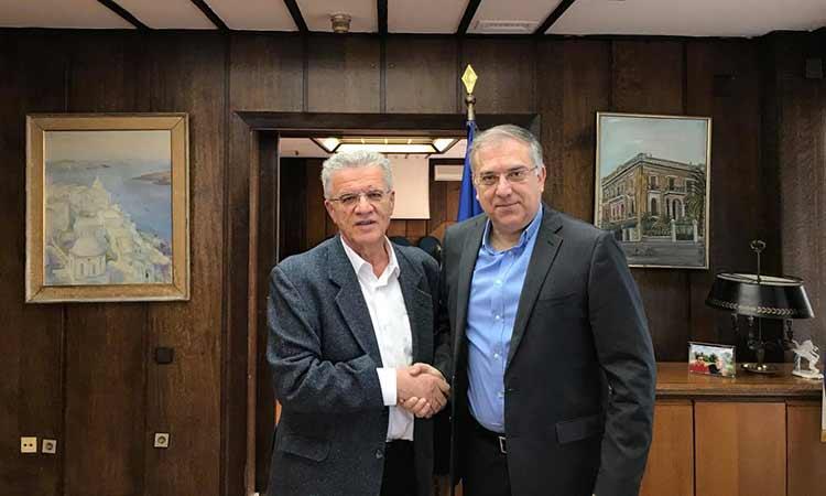 Για θέματα αθλητισμού και Αυτοδιοίκησης συζήτησαν Τ. Θεοδωρικάκος και Γ. Θεοδωρακόπουλος