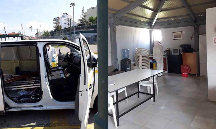 Ηράκλειο: Απολυμάνσεις σε χώρους εργασίας των δ/νσεων Πρασίνου και Καθαριότητας