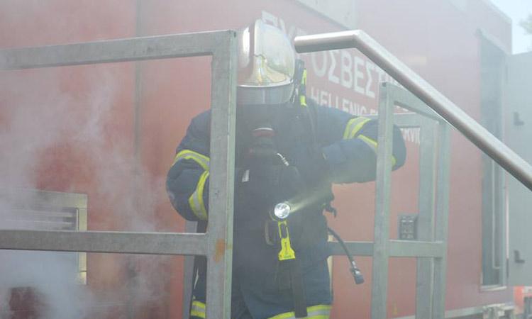 Φωτιά σε σπίτι στην οδό Γαρηττού, στην Αγία Παρασκευή