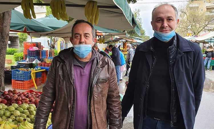 Τη λαϊκή αγορά Μεταμόρφωσης επισκέφθηκε ο Στράτος Σαραούδας