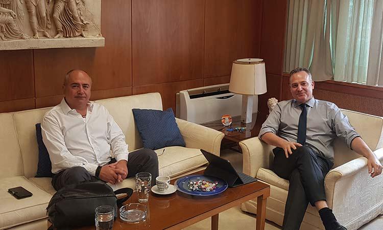 Τρόπους αναβάθμισης του ΗΣΑΠ Ηρακλείου συζήτησαν Ν. Μπάμπαλος και πρόεδρος ΣΤΑ.ΣΥ. Α.Ε.