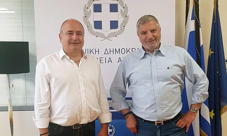 Ν. Μπάμπαλος και Γ. Πατούλης «έδωσαν τα χέρια» για τα έργα αποκατάστασης των σεισμόπληκτων σχολείων στο Ηράκλειο