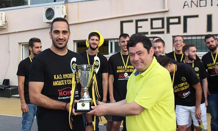 Στη γιορτή ανόδου του ΚΑΟ Λυκόβρυσης στη Β' ΕΣΚΑ ο Τ. Μαυρίδης
