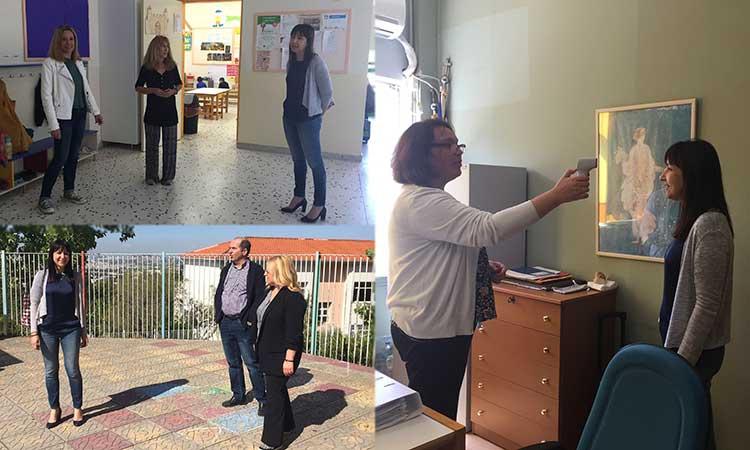 Η Δ. Κεχαγιά επισκέφθηκε σχολεία πρωτοβάθμιας εκπαίδευσης στον Δήμο Πεντέλης