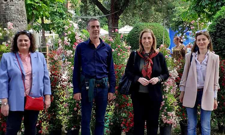 Κλιμάκιο του ΣΥΡΙΖΑ επισκέφθηκε την Ανθοκομική Έκθεση Κηφισιάς