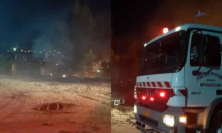 Πυρκαγιά σε χορτολιβαδική έκταση στον Γέρακα Αττικής