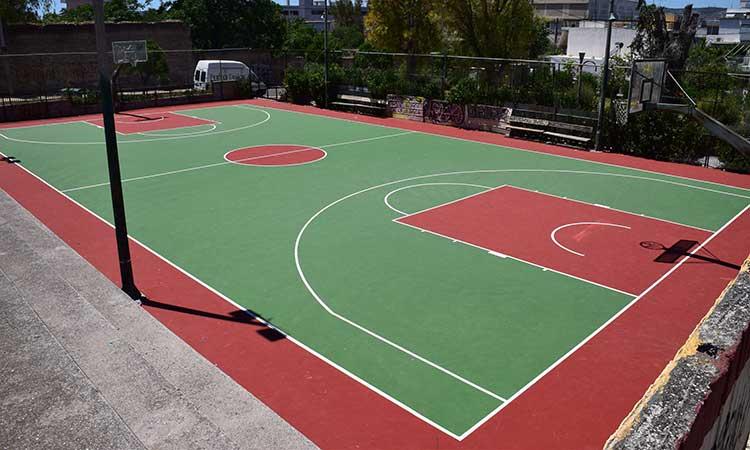 Ανακατασκευή του ανοικτού γηπέδου μπάσκετ στην πλατεία Μακελαράκη στον Περισσό