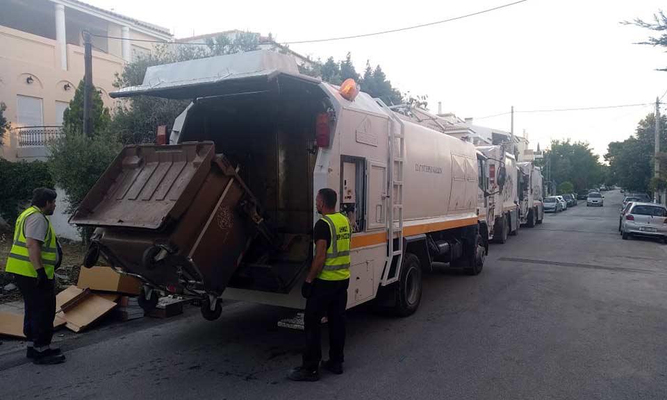 Ολοκληρώθηκε το πλύσιμο των καφέ κάδων απορριμμάτων στον Δήμο Βριλησσίων