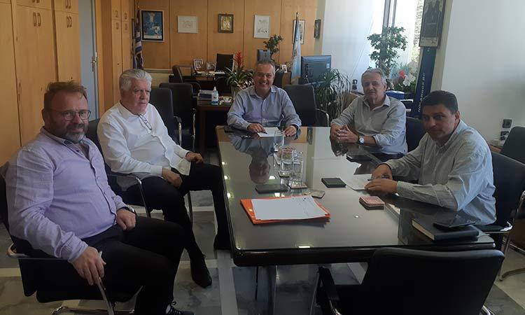 Εφ' όλης της ύλης συνάντηση είχαν οι δήμαρχοι Αγ. Παρασκευής και Παπάγου – Χολαργού