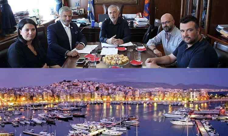 Τα έργα που χρηματοδοτεί η Περιφέρεια Αττικής στον Πειραιά στο επίκεντρο συνάντησης Γ. Πατούλη και Γ. Μώραλη