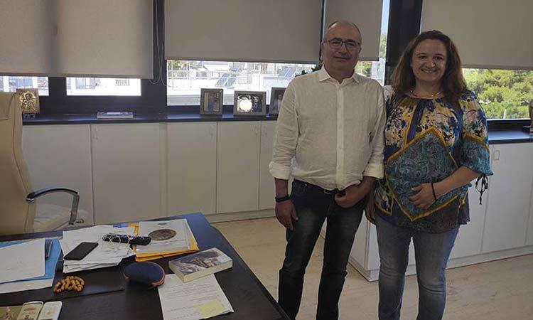 Ν. Μπάμπαλος και Φ. Δαλιάνη συζήτησαν για τα έργα που υλοποιεί ο Δήμος Ηρακλείου σε συνεργασία με την Περιφέρεια