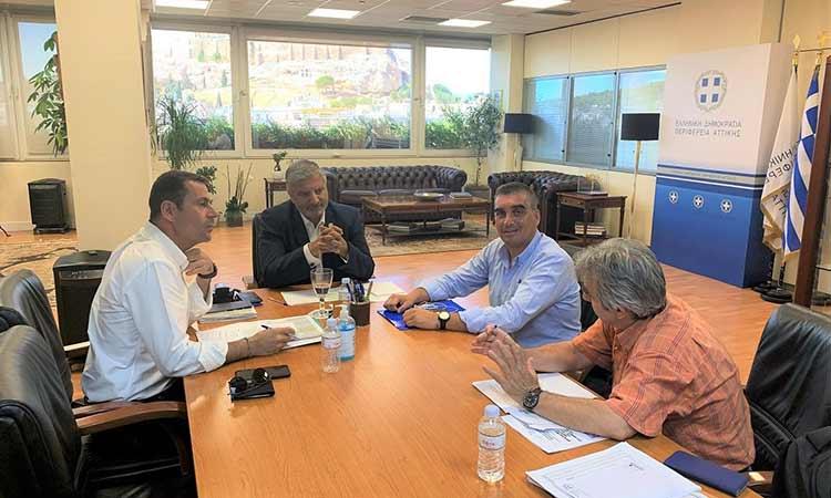 Συνάντηση του περιφερειάρχη Αττικής με τον δήμαρχο Ελληνικού – Αργυρούπολης