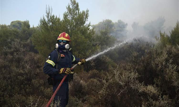 Πυρκαγιές σε Αίγινα, Κεφαλονιά – Υπό μερικό έλεγχο στη Τζιά