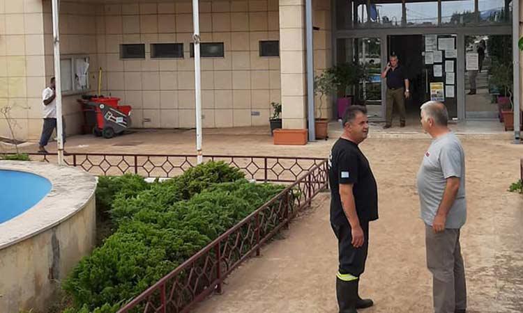 Ο Βλ. Σιώμος στις πληγείσες περιοχές της Εύβοιας εκ μέρους της ΚΕΔΕ