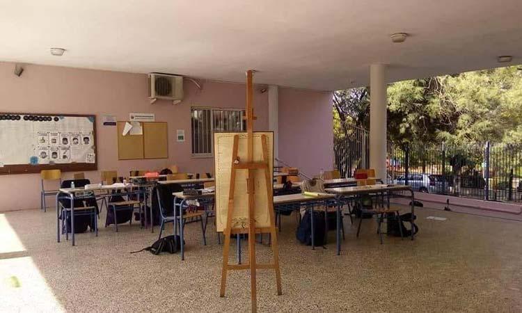 Υπαίθρια μαθήματα σε σχολείο του Ηρακλείου