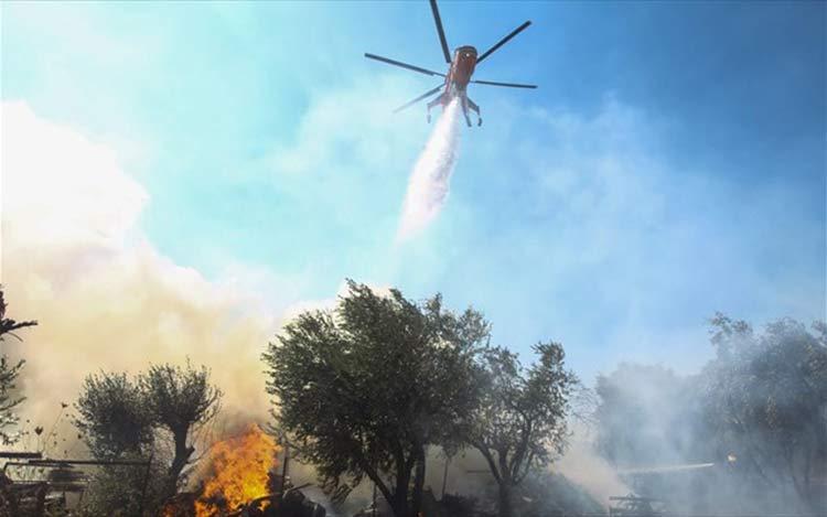 Χωρίς ενεργά μέτωπα οι πυρκαγιές σε Αρτέμιδα και Νέο Βουτζά