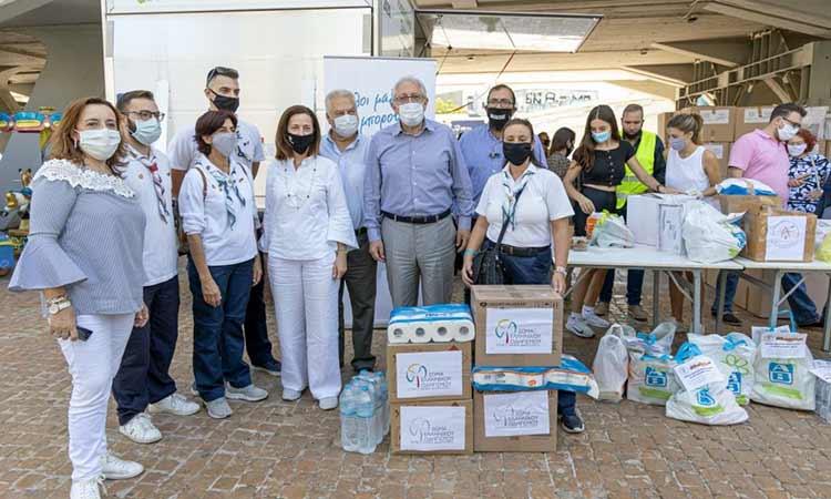 Δυναμικά παρόντες οι Μαρουσιώτες στη δράση στήριξης των πλημμυροπαθών Καρδίτσας