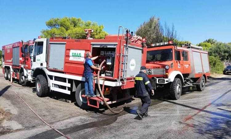 Άμεση και αποτελεσματική η επέμβαση του ΣΠΑΠ στις πυρκαγιές στην Αττική
