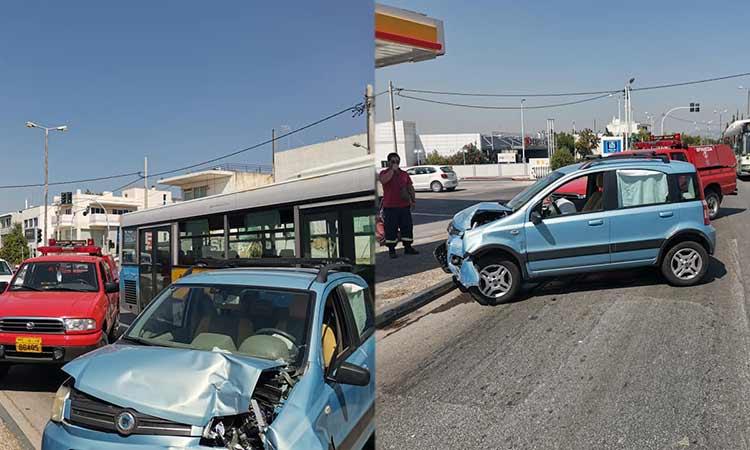 Αυτοκίνητο έπεσε πάνω σε πικακίδα πρατηρίου καυσίμων στα Βριλήσσια
