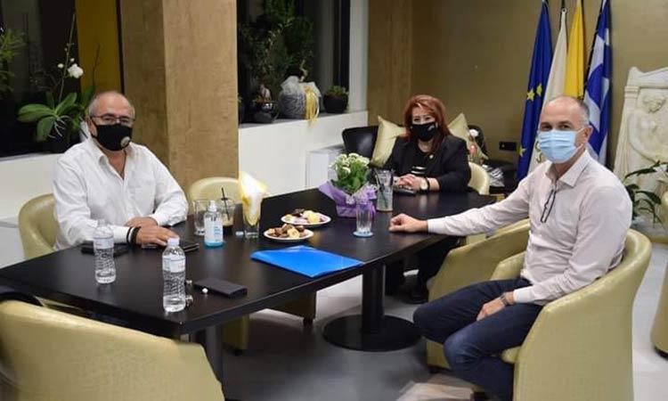 Συνάντηση των δημάρχων Ν. Ιωνίας, Ηρακλείου και Μεταμόρφωσης